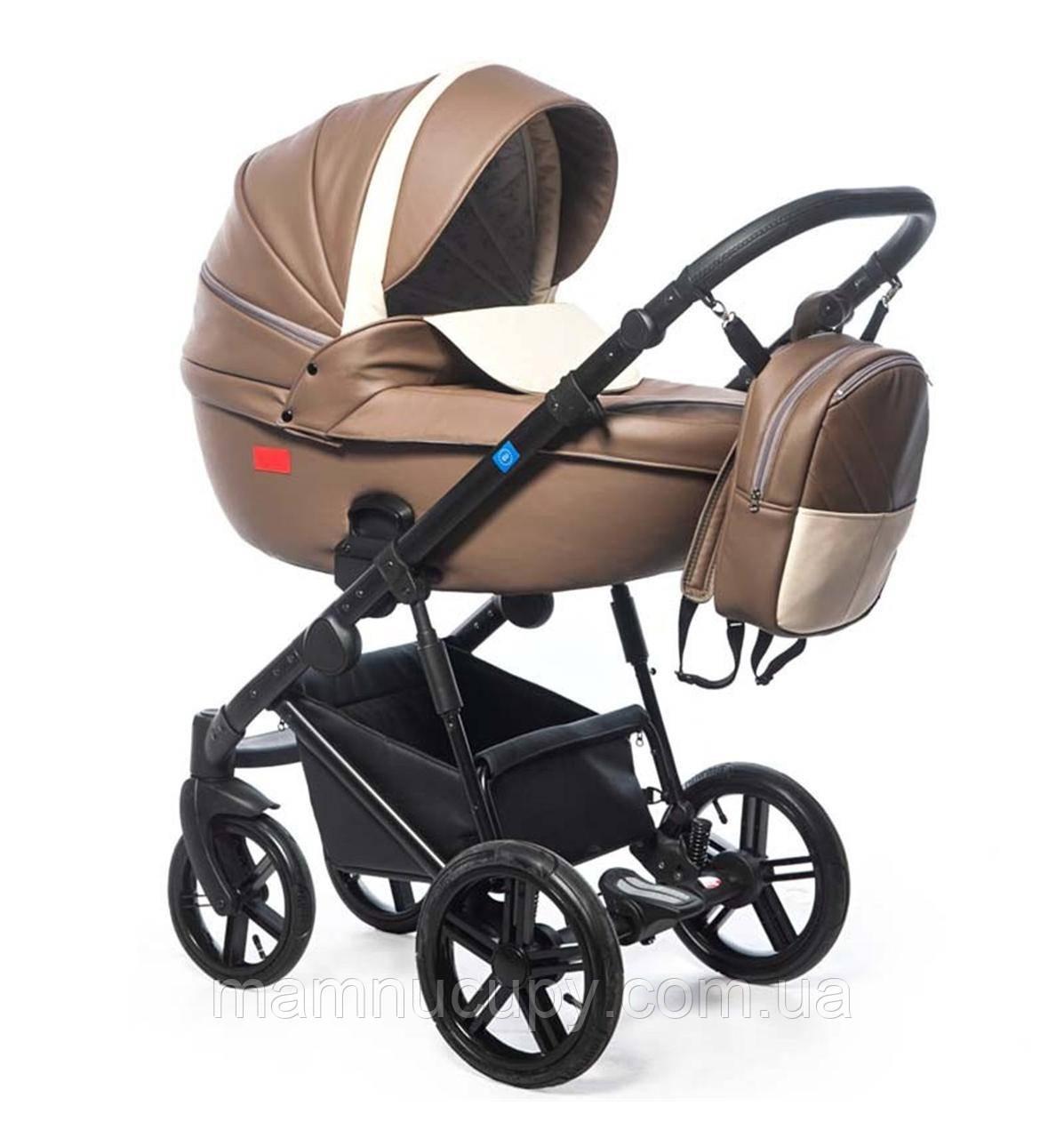 Детская универсальная коляска 3 в 1 Broco Avenue 03 Brown (Броко Авеню)