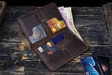 Портмоне кошелёк мужской Космополит коричневый, фото 3