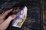 Портмоне кошелёк мужской Космополит коричневый, фото 4