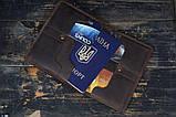 Портмоне кошелёк мужской Космополит коричневый, фото 6
