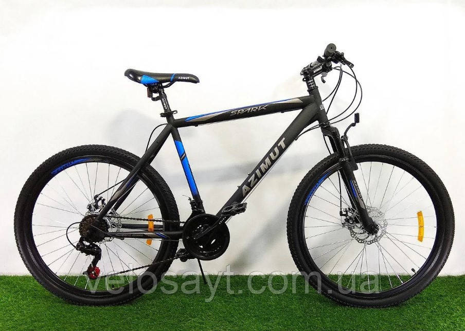 "Горный велосипед 26 дюймов Azimut Spark FRD рама 20 "" BLACK-BLUE"