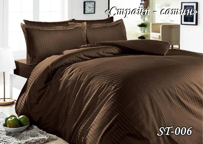 Комплект постельного белья Тет-А-Тет полуторное Страйп сатин ST-006, фото 2