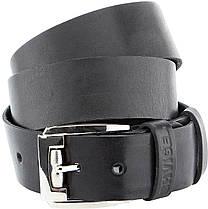 Мужской ремень SHVIGEL 10084 кожаный черный