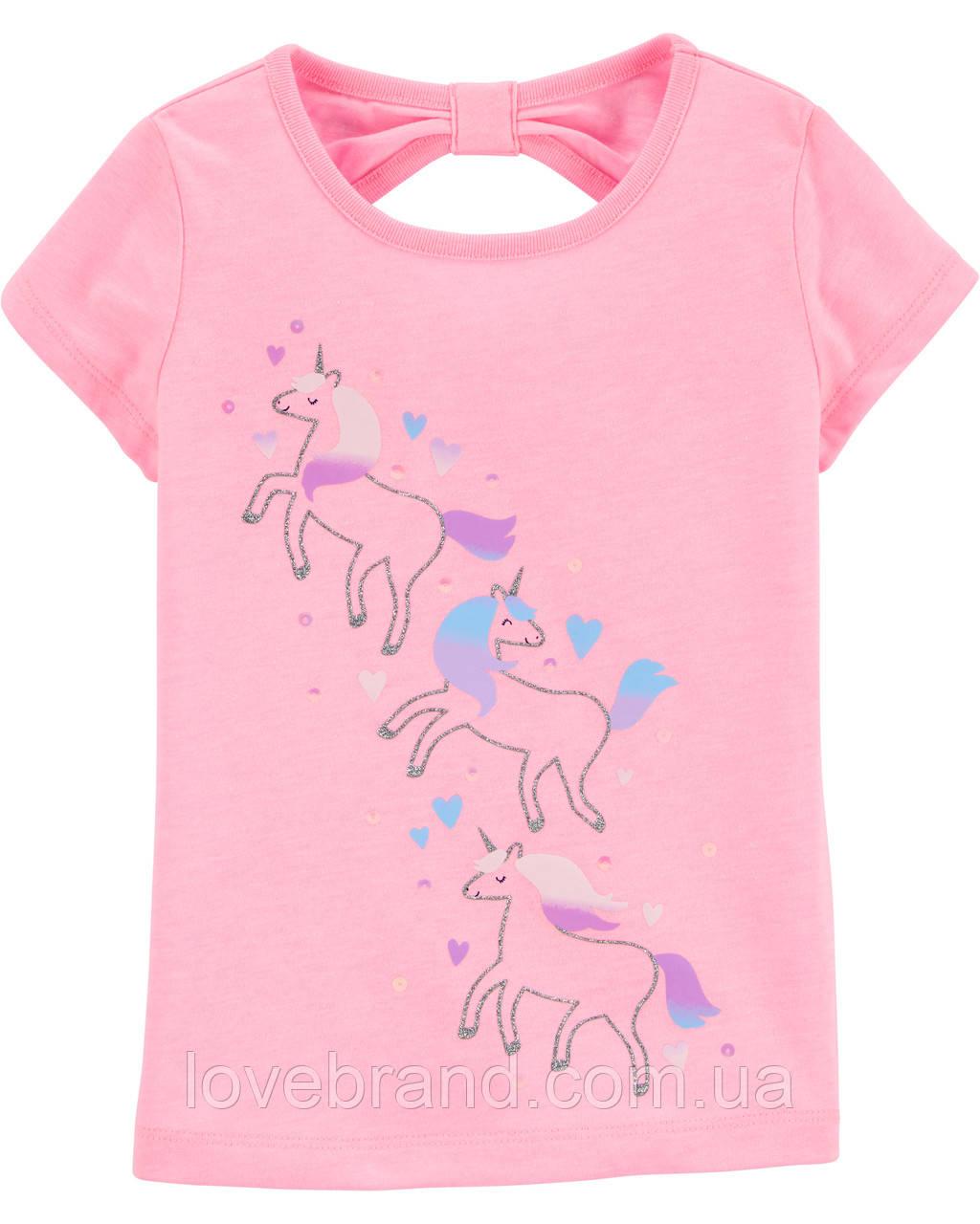 """Фирменная футболка для девочки OshKosh """"Единорожки"""" 3Т/93-98 см"""