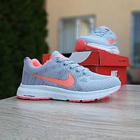 Женские кроссовки Nike ZOOM (серо-розовые) 20062