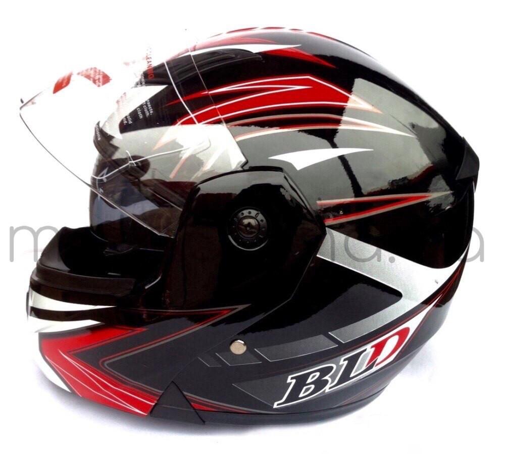 Шлем BLD 157 трансформер (черно-красный)