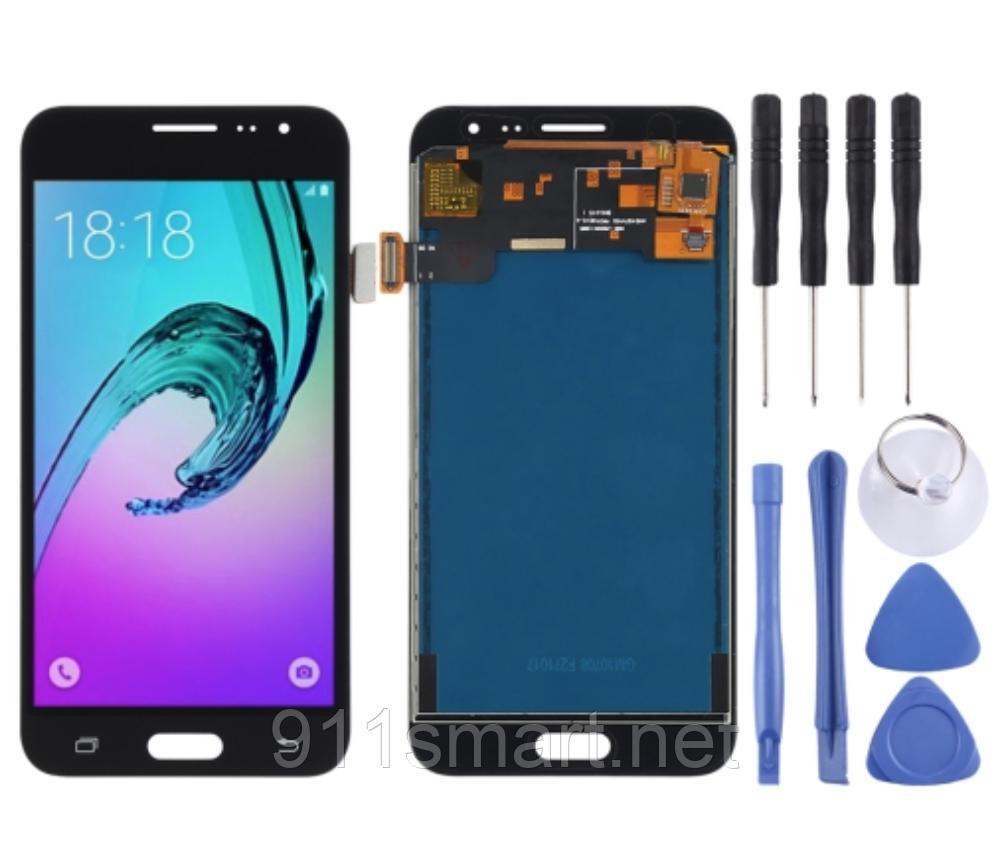 Дисплей + сенсор amoled LCD модуль, тачскрин Samsung J320F черный