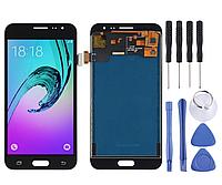 Дисплей + сенсор amoled LCD модуль, тачскрин Samsung J320F черный, фото 1