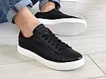 Мужские кожаные кроссовки Puma (темно-синие) 9230, фото 3