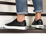 Мужские кожаные кроссовки Puma (темно-синие) 9230, фото 4