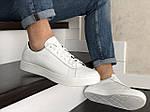 Мужские кожаные кроссовки Puma (белые) 9231, фото 2