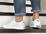 Мужские кожаные кроссовки Puma (белые) 9231, фото 4
