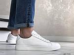 Мужские кожаные кроссовки Puma (белые) 9231, фото 5