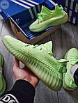 Мужские кроссовки Adidas Yeezy Boost 350 Glow Люминисцентные - 318PL, фото 5