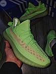Мужские кроссовки Adidas Yeezy Boost 350 Glow Люминисцентные - 318PL, фото 4
