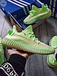 Мужские кроссовки Adidas Yeezy Boost 350 Glow Люминисцентные - 318PL, фото 8