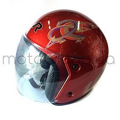 Шлем207 без бороди (червоний )