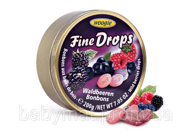 Монпасье Fine Drops Waldbeeren Bonbons микс Лесные ягоды Австрия 200гр