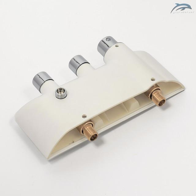 Настенный смеситель для душевой системы WEMI SWT-01 выполнен из сантехнической латуни марки H59.