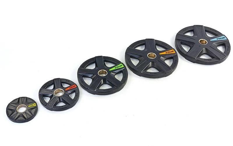 Набор полиуретановых олимпийских дисков (блинов) 80 кг TA-5335
