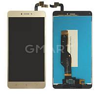 Дисплей Xiaomi Redmi Note 4X золотистый (LCD экран, тачскрин, стекло в сборе), Дисплей Xiaomi Redmi Note 4X золотистий (LCD екран, тачскрін, скло в