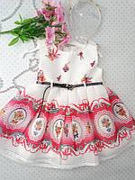 Очень красивое платье для девочки, белого-розовое ,в комплекте обруч  на 2, 4 ,5 лет.