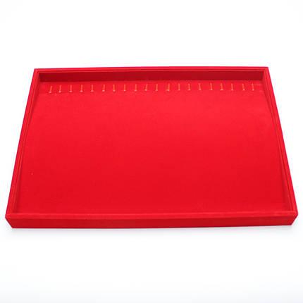 Ювелирный планшет под браслеты, цепочки 35х24х3 см Premium 20 крючков, фото 2