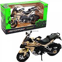 Мотоцикл Автопром HX-795, золотой, 16х5х10 см (7748), фото 1