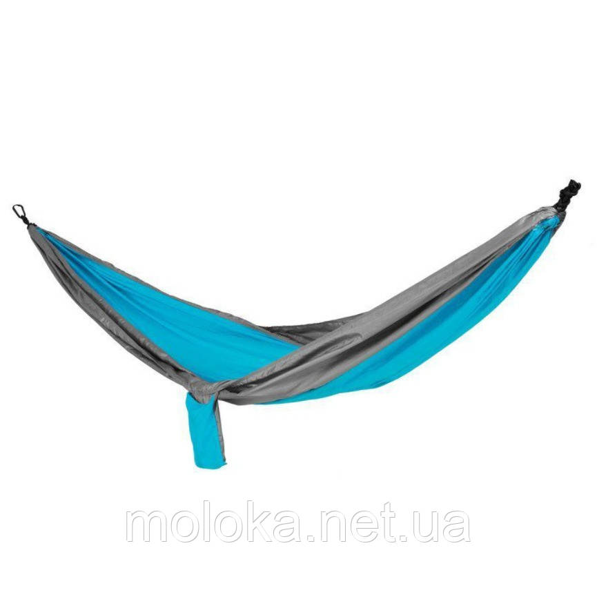 Гамак туристический Spokey Cocoon 140х280 см, нейлон, голубой с серым