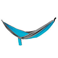 Гамак туристический Spokey Cocoon 140х280 см, нейлон, голубой с серым, фото 1