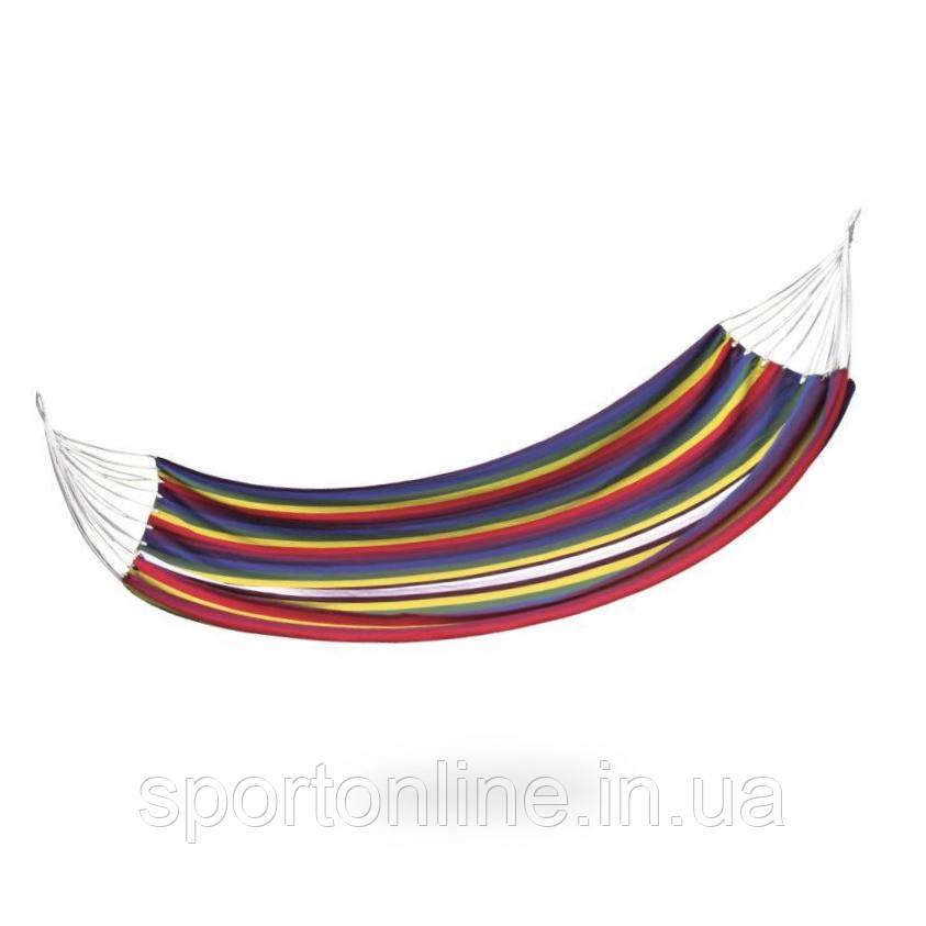 Гамак Spokey Samba 100х210 см, хлопок, разноцветная полоска