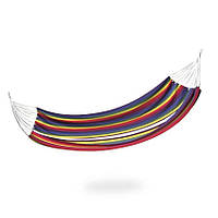 Гамак Spokey Samba 100х210 см, хлопок, разноцветная полоска, фото 1