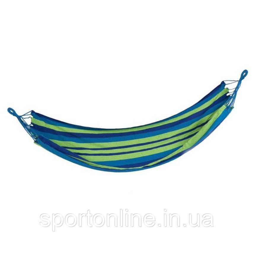 Гамак Spokey IPANEMA 100х200 см, хлопок, сине-зеленая полоска