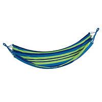Гамак Spokey IPANEMA 100х200 см, хлопок, сине-зеленая полоска, фото 1