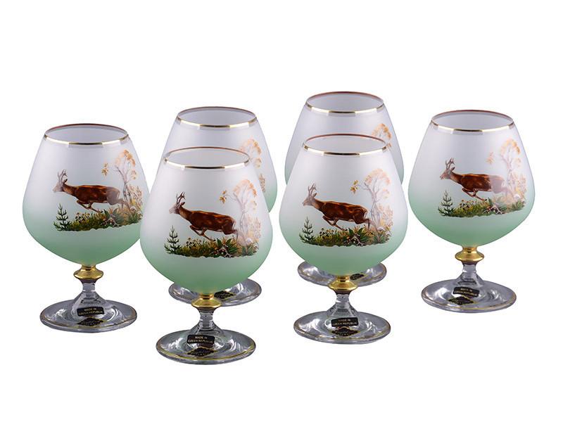 Набір келихів для коньяку Nb Art Медуза 6 штук 615-461