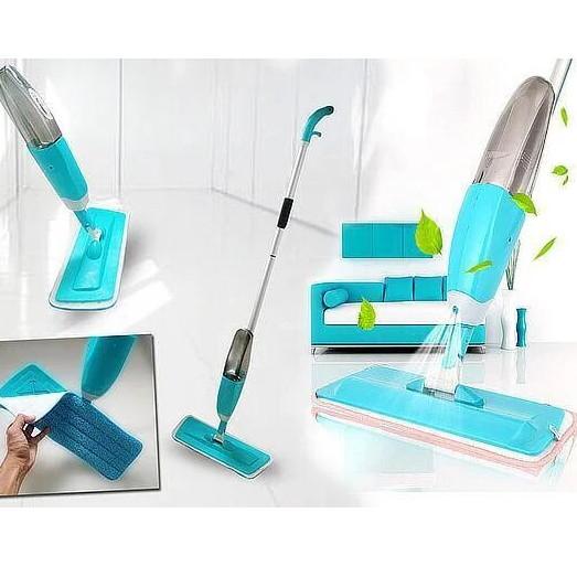 Швабра с распылителем Healthy Spray Mop Бирюзовый