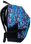 Рюкзак PASO с узорами 33 л Черно-синий (14-1208B), фото 2