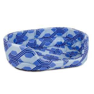 Лежак для собак Природа C1, синий, 70х58х18 см