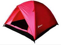 Палатка трехместная KingCamp Family 3 KT3073, красная, фото 1