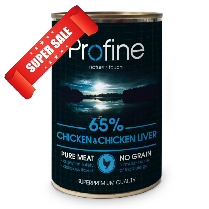 Влажный корм для собак Profine Chicken & Chicken Liver 400 г