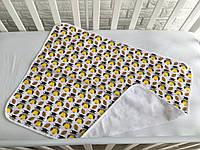 Непромокаемая многоразовая пеленка для новорожденного «Умные совы», хлопок