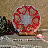 Соляной светильник круглый Узор 6 цветной, фото 2