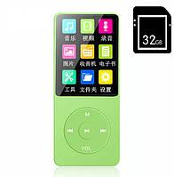 Портативный MP3/MP4 Hi-Fi Плеер 32Gb с внешним динамиком Салатовый
