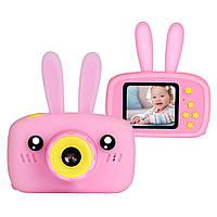 Детская Фото-видеокамера с ушками 1200P, дисплей 2.0 HD F4 Pink