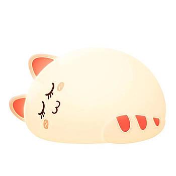 Детский ночник сенсорный POMAZAN Sleeping Cat