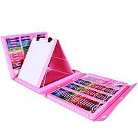 Набор канцелярских товаров для рисования с мольбертом Art Set Pink