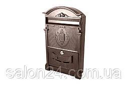 Почтовый ящик Vita - герб Украины (коричневый)