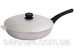 Сковорода алюмінієва Біол - 300 х 104 мм, з рифленим дном і кришкою