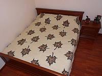 Одеяло двухслойное, двухспальное из овечьей шерсти 2х2,2 м ПП1