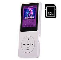 Портативный MP3/MP4 Hi-Fi Плеер 32Gb с внешним динамиком Белый